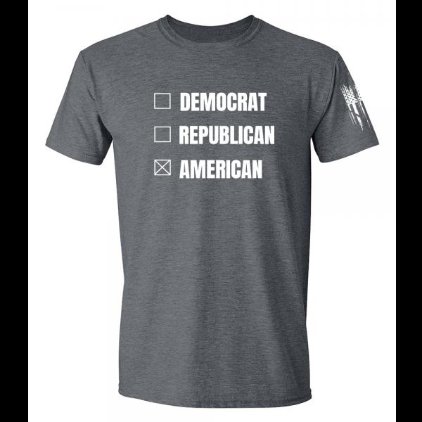 Vote American Shirt Grey