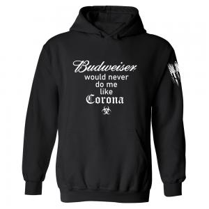 Budweiser Corona Hoodie Black