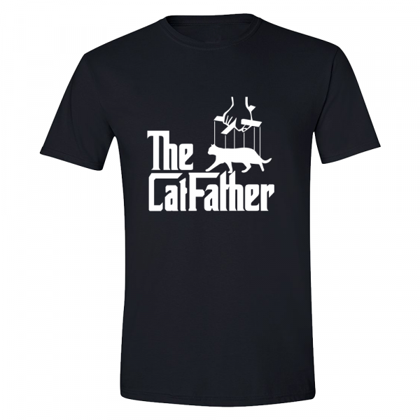 The Cat father Black T-shirt