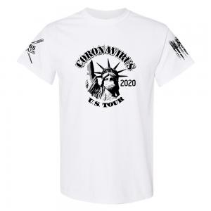 Statue of Liberty Coronavirus Shirt White