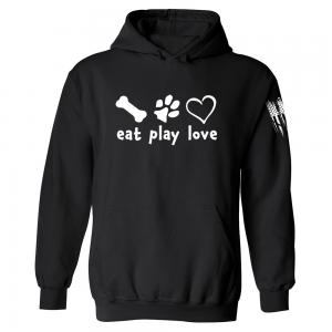 Eat Play Love Hoodie Black