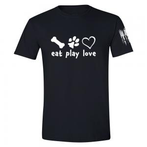 Eat Play Love Shirt Black
