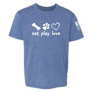 Eat Play Love Shirt Blue