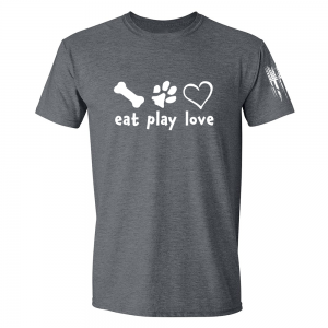 Eat Play Love Shirt Grey