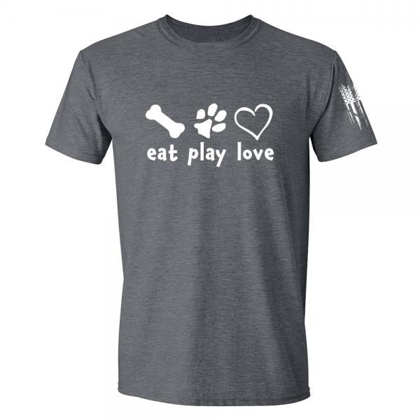 Eat Play Love Shirt Grey