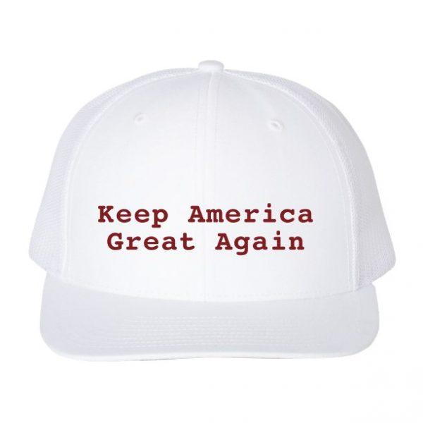 Keep America Great Again Hat White