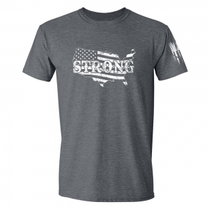 United States of America Strong Shirt Grey