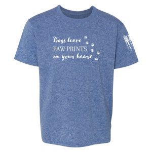 Dogs Leave Paw Prints Shirt Blue