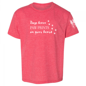 Dogs Leave Paw Prints Shirt Red