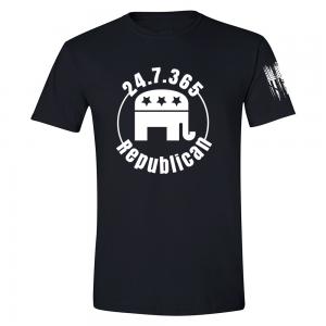 247365 Republican Shirt Black