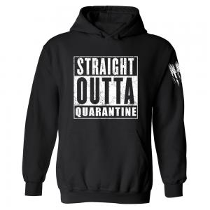 Straight Outta Quarantine Hoodie Black