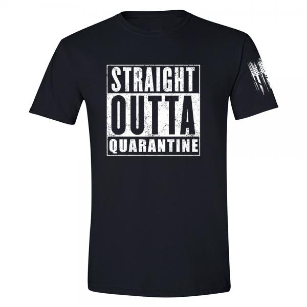 Straight Outta Quarantine Shirt Black