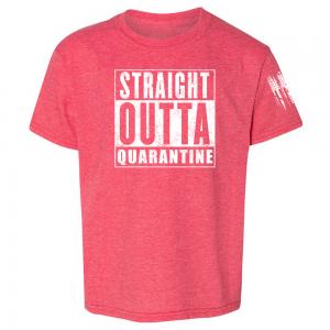 Straight Outta Quarantine Shirt Red