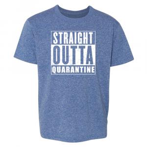 Straight Outta Quarantine Royal Heather T-shirt