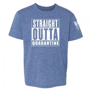 Straight Outta Quarantine Shirt Blue