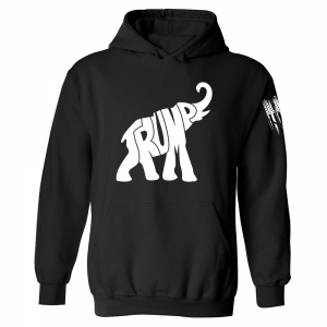 Trump GOP Elephant Hoodie Black