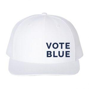 Vote Blue Hat White