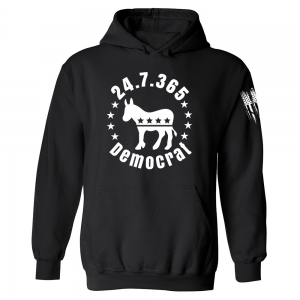 247365 Democrat Hoodie Black