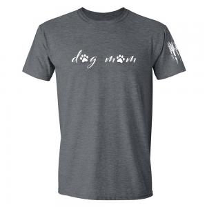 Dog Mom Shirt Grey
