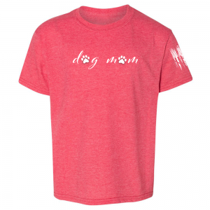 Dog Mom Shirt Red