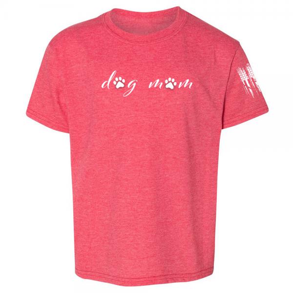 Dog Mom Shirt Red