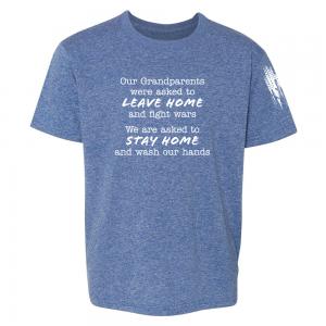 Grandparents Fight Wars Shirt Blue