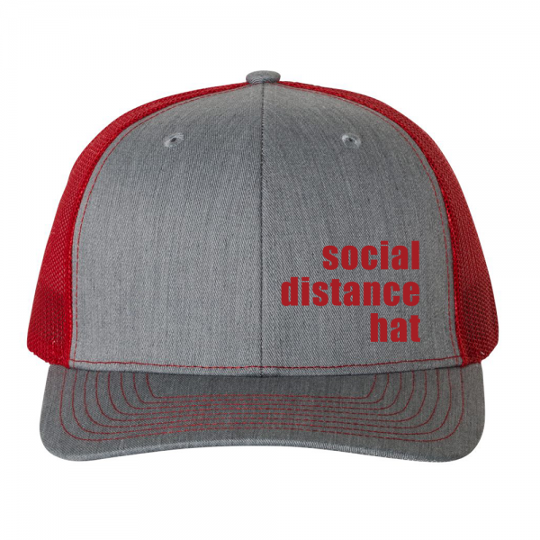 Social Distance Hat Red