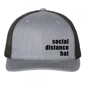 Social Distance Hat Black
