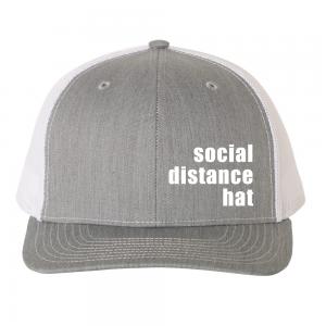 Social Distance Hat Grey