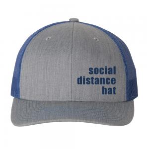 Social Distance Hat Blue