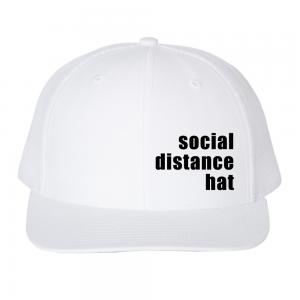 Social Distance Hat White