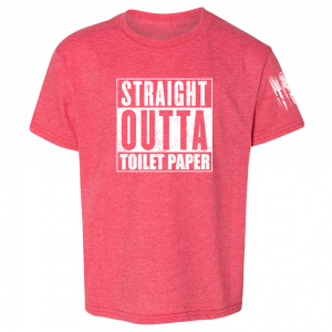 Straight Outta Toilet Paper Shirt Red