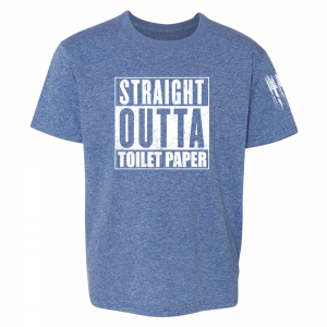 Straight Outta Toilet Paper Shirt Blue