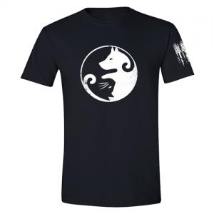 Cat Dog Yin Yang Shirt Black