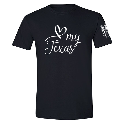 I Heart Texas Shirt Black