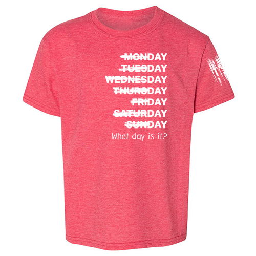 What day is it? Shirt Red