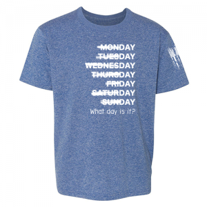 What day is it? Shirt Blue