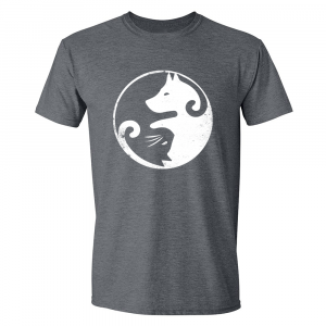Yin & Yang Cat Dog Dark Heather T-shirt