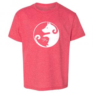 Yin & Yang Cat Dog Heather Red T-shirt