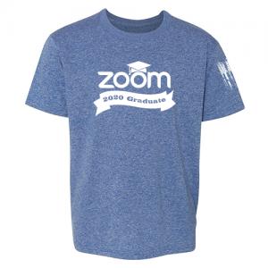 Zoom 2020 graduate Shirt Blue