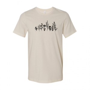 Row Of Flowers t-shirt